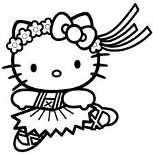 Hello Kitty Coloring Pages Free Online Game Christmas