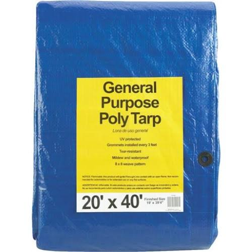 Dynatech International General Purpose Poly Tarp - Blue, 20' x 40'