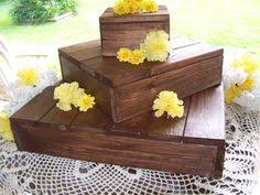 Rustic Cake Stand Cupcake Wedding Decoration Reception Country Box Holder