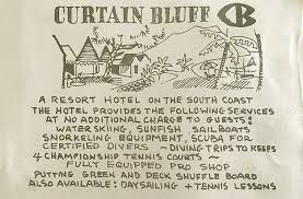 Curtain Bluff Antigua Map by History Curtain Bluff