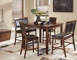 meredy brown 5 piece counter height dining room set from ashley