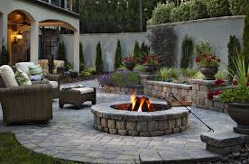 Buy Unilock Sunset Round Fire Pit South Shore Landscape Supply