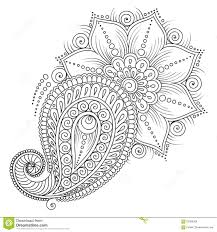 Paisley Peacock Coloring Pages For Adults Printable With Mehndi
