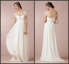 Cap Sleeve Bridesmaid Dresses Floor Length by Beach Wedding Dresses 2015 Cheap Bridal Gowns With Cap Sleeves