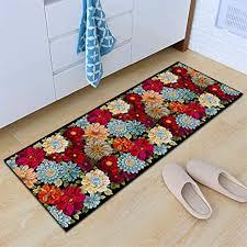 insun teppich küchen läufer küchenmatte waschbar rutschfest schlafzimmer badezimmer fußmatte modern muster blume 3 60x160cm