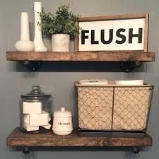 Decorative Wall Shelves Ideas Bathroom Flush Sign Custom Home Decor Farmhouse Style Rustic Shelving