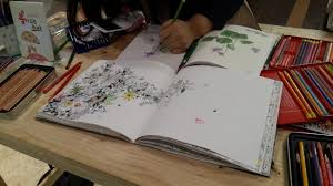 A Bookstore Offers Table With Color Pencils And Coloring Books For Visitors To Try Out Ahn Sung Mi The Korea Herald
