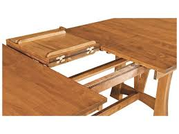 Amish Granby Table Leaf Storage Detail