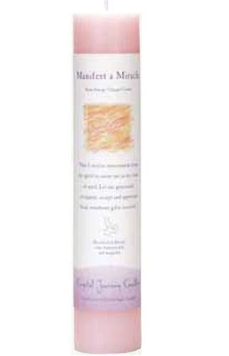 Crystal Journey Reiki Charged Herbal Pillar Candle - Manifest a Miracle