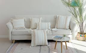 1 stück boho kissenbezug dekorative boho kissenbezüge kissenhülle mit quaste getuftet für sofa baumwolle dekokissen sofakissen für