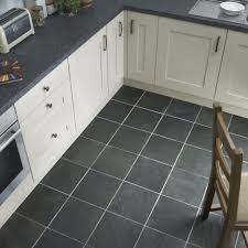 slate tile kitchen floor with square shape