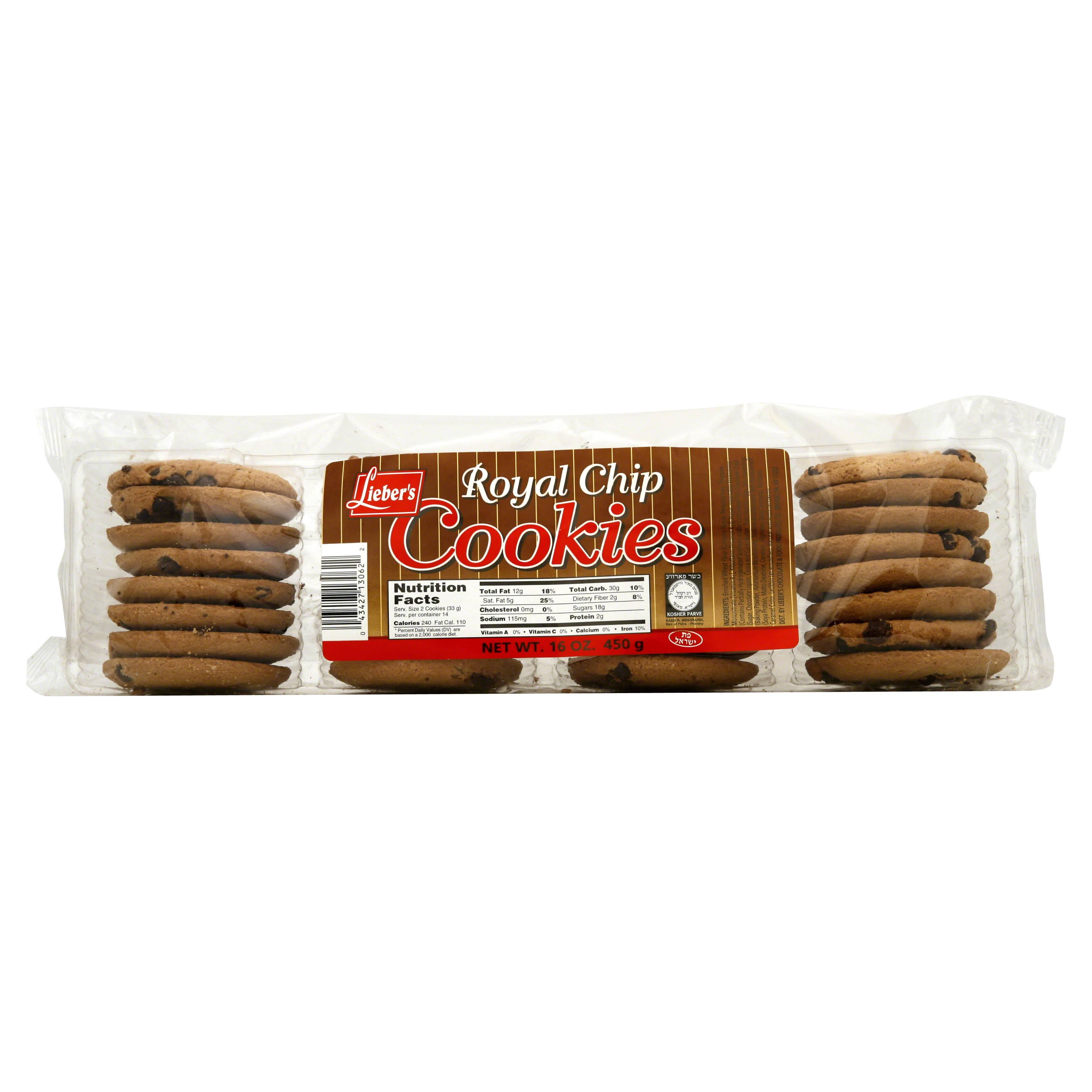 Liebers Cookies, Royal Chip - 16 oz