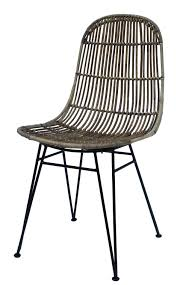 chaise bambou et metal