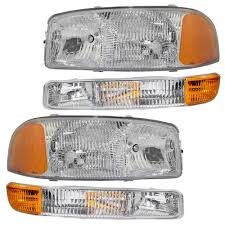 4-Piece Set Headlights & Signal Marker Lamps Replacement For GMC ... 52017 F150 Anzo Led Switchback Outline Projector Headlights Mack Rd Ch Sfa Some Sba Freightliner Mt Rv Utilimaster Penske Makes Trucklite Standard For United Pacific Industries Commercial Truck Division Round Sealed Low Beam Headlamps Pair Set Chevy Pickup Land Cruiser Fj40 Fj55 Minitruck Of 2 Xenon Headlights American Truck Simulator Smoked Black 1116 Ford Super Duty Halo Gorecon Pair Cree H6054 7x6 Toyota 4piece Signal Marker Lamps Replacement Gmc Next Generation Scania With Shing Editorial Purple Volvo Fh Semi Trailer Stock Image