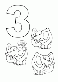 Number 3 Coloring Page Pages Tryonshorts Line Drawings