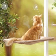 Amazoncom MAIKEHIGH Cat Hammock Window Mount Perches Resting Pet
