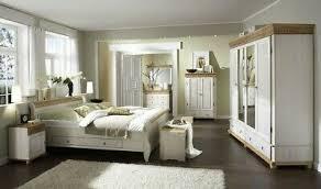 massivholz schlafzimmer set 6teilig komplett kiefer massiv weiß antik landhaus ebay