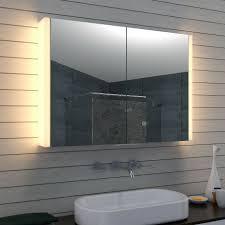 spiegelschrank bad 100x70cm mit vertikale led beleuchtung