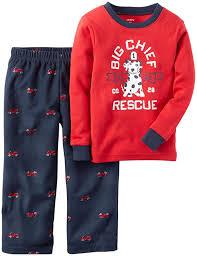 Amazon.com: Carter's Little Boys' 2-Piece Cotton And Fleece Pajama ...