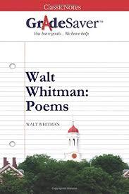 walt whitman poems essays gradesaver