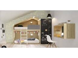 cabane dans la chambre lit cabane rigolo pour chambre enfant à prix câ so nuit