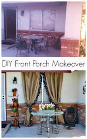 Patio Curtains Outdoor Idea by Best 25 Back Porch Makeover Ideas On Pinterest Porch Porch