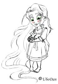 Princess Rapunzel Colouring Pages Coloring Tangled Disney
