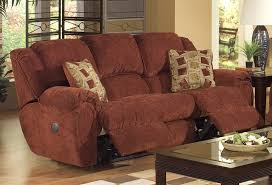 Catnapper Lift Chair Manual by Conrad Manual Reclining Sofa In Chianti Color Chenille Fabric By