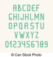 Simple Colorful Font Complete Abc Alphabet Set Vector Letters And Numbers Doodle Typographic