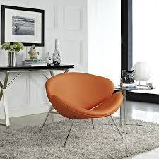 Amazon.com: Modway Nutshell Mid-Century Style Lounge Chair In ... Pair Of Midcentury Orange Armchairs 1950s Design Market Orange Armchairs From Wilkhahn Set 2 For Sale At Pamono Benarp Armchair Skiftebo Ikea Fniture Paisley Accent Chair Burnt Living Room Great Swivel For Showing Modern Chairs Wingback Striped