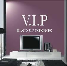 wandtattoo wandaufkleber v i p lounge schriftzug wohnzimmer