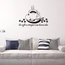 küche zitate wandtattoo vinyl kaffeetasse wandaufkleber esszimmer küche café dekoration wandkunst wand wohnkultur