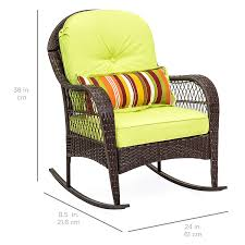 Best Choice Products Wicker Rocking Chair Patio Porch Deck Furniture ... Cheap Wicker Rocking Chair Sale Find Brookport With Cushions Ideas For Paint Outdoor Wooden Chairs Hotelpicodaurze Designs Costway Porch Deck Rocker Patio Fniture W Cushion 48 Inch Bench Club Slatted Alinum All Weather Proof W Corvus Salerno Amazoncom Colmena Acacia Wood Rustic Style Parchment White At Home Best Choice Products Farmhouse Ding New Featured Polywood Official Store