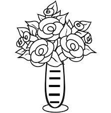 Coloriage Vase Avec Fleurs à Imprimer