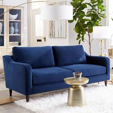 Sofab Hudson Series 3Seat Sofa Royal Style Design Living Room Couch With Sturdy Wood Frame Construction 78