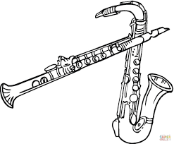 Click The Saxophones And Clarinet Coloring Pages