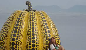 Yayoi Kusama Pumpkin Sculpture by The Japan Arts Trail Self Guided Adventure Inside Japan Tours