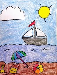 Art Projects For Kids Ryans Seaside Drawing Easy Summer Fun