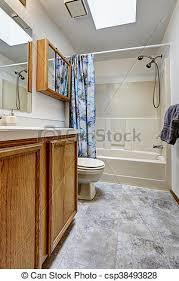 toilette badezimmer hölzerner stock kabinett marmor