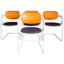Allermuir Soul Dining Chairs In Orange, Navy And White Designed By ... Saddle Leather Ding Chair Garza Marfa Jupiter White And Orange Plastic Modern Chairs Set Of 2 By Black Metal Cafe Fniture Buy Eiffel Inspired White Orange With Legs Grand Tuscany Total Sizes Wd325xh36 Patio Urban Kitchen Shop Asbury With Chromed Velvet Vivian Of World Market Industrial Design Slat Back Products Flash Indoor Outdoor Table 4 Stack