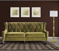 Armen Living Barrister Sofa by Braylei Track Arm Sofa With 3 Toss Pillows Created For Macy U0027s