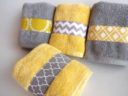yellow and grey bath accessories grey and yellow chevron bathroom