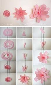 Amusing Diy Paper Flower Wall Decor As Well Ideas Painting