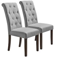 Merax Grey Noble And Elegant Solid Wood Tufted Dining Chair (Set Of ... Skyline Fniture Tufted Ding Chair In Velvet White Room Chairs Sale Balthazar Leather Linen Set Of 2 Back Nailhead Trim Inspired Home Ashton Non Twill Metal Gray At Pottery Barn Diamond Sofa Nolan Leatherette On Charcoal Powder Coat Frame Gramercy Dark Grey Safavieh Mcr4701cset2 Milo 4 By Tallback Natural Fabric Christopher Details About 4x Beige High Upholstered Button Rockefellar Pu Or Square Arms Chrome Gold Jessica Charles Sebastian 1901t