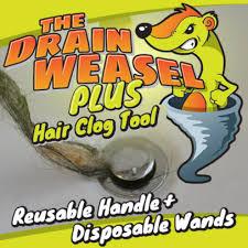 Unclog Bathtub Drain Tool by Drain Weasel Hair Clog Tool Drain Snake Asseenontv Com Shop