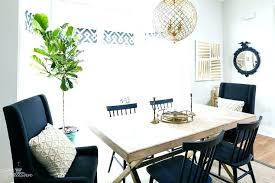Blue Dining Room Chairs Awesome Navy X Based Table With Living And Beige Accent