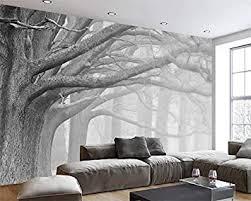 schwarz und weiß wald baum kunst hintergrund wanddekoration