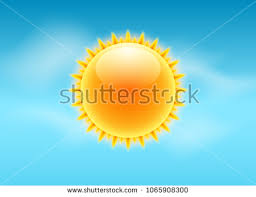 Sun Realistic Rays Icon Vector Weather Forecast Sky Design Sunshine Nature Summer Light
