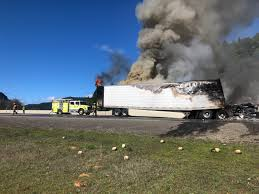 100 Simi Truck I5 NB Slow Lane Reopens After Semitruck Fire KATU