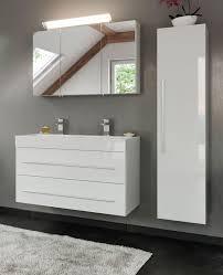badezimmer hängeschrank livono in hochglanz weiß badmöbel hochschrank 35 x 150 cm badschrank hängend